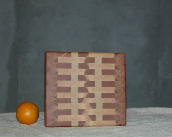 Wooden Cutting Board with Great Light Colors - Cheese or Sandwich Board