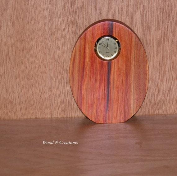 Desk Clock - Home or Office Decor - Wooden Clock - Contemporary Clock