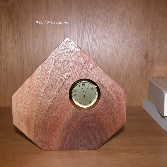 Walnut Desk Clock -  Home or Office Decor