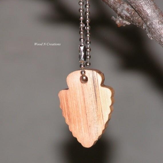 Key Chain with Wooden Arrowhead