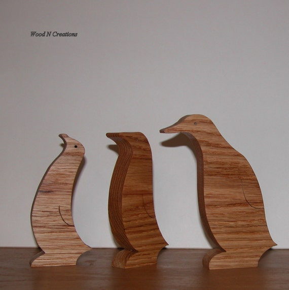 Penguin Trio Animal Decor Home Or Office Decor Three