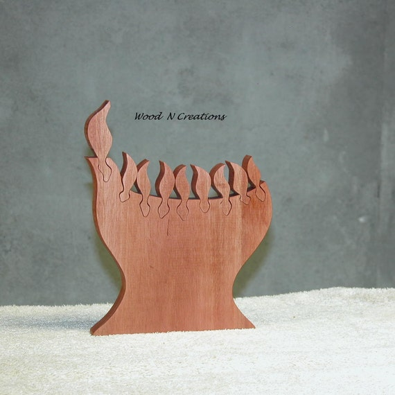 Wooden Menorah with Child Safe Finish