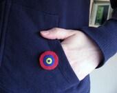SALE - Jasper - Handmade Felt Brooch Pin - target