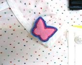 SALE - Papillon - Felt Butterfly Brooch Pin