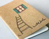 Hand Drawn Pocket Journal Cahier Notebook (Moleskine) - Great Escape - Illustration