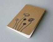 Hand Drawn Pocket Journal Cahier Notebook (Moleskine) - Wildflowers - Illustration