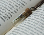 Prairie Couture Lavender Filled Vial Necklace