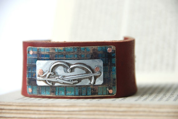 Airplane Bracelet Etched And Patina Vintage Pan Am Style Metal Printing Stamp Ready To Ship
