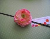 Brown Skinny Headband with Pink/Mauve Mini Rann