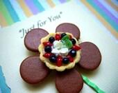 Berry Berry Tart on Flower Bobby Pin