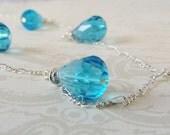Blue Drops Necklace