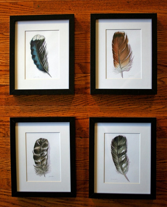 Blue Jay Feather - Nightly Study 345 - Original Watercolour