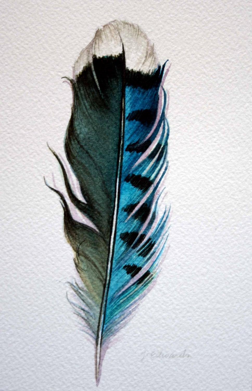 Original Watercolor Fe...