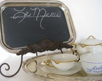 Mother's Day Gift Seen in BRIDES The ORIGINAL Tres Chic Silver Magnetic and Chalk Board  Weddings Hostess Gift