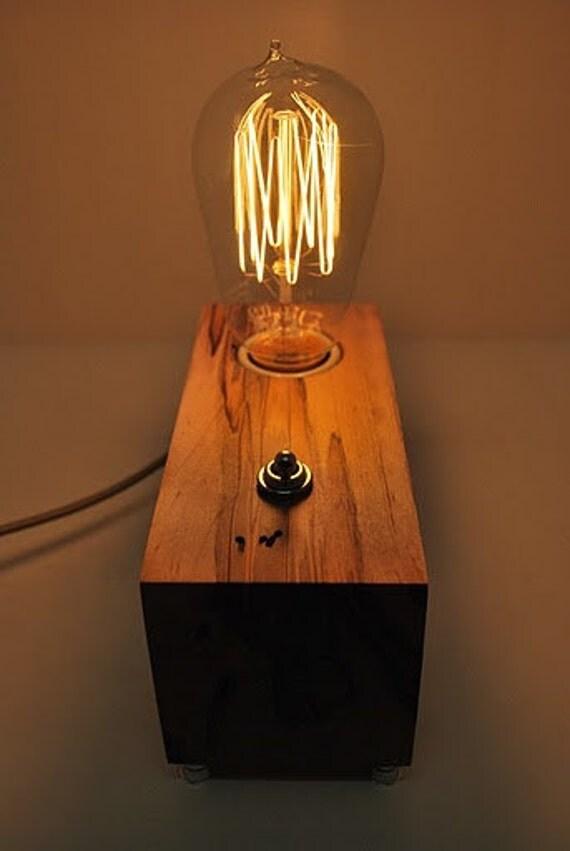 The Menlo Park Lamp- Single Edison Bulb in Ambrosia Maple
