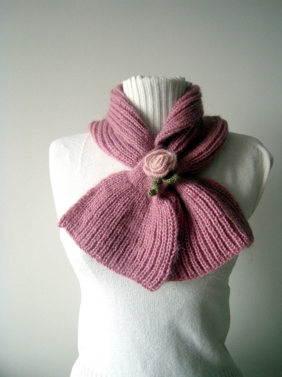Pink Bow Neckwarmer