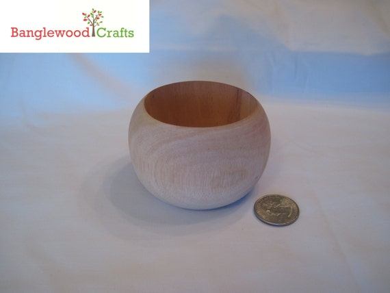 3 Xtra Small Chunky Dome Unfinished Wood Bangle