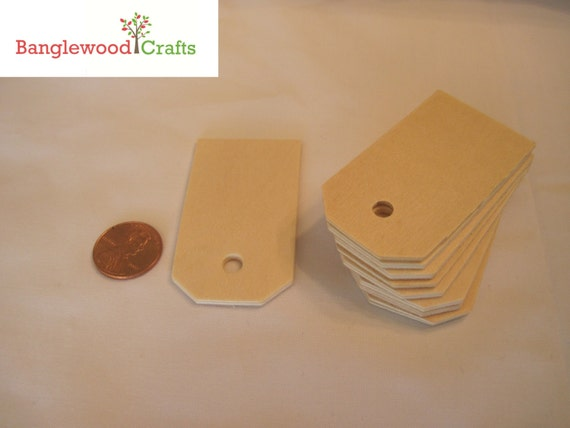 Unfinished Wooden Tags - Set of 10