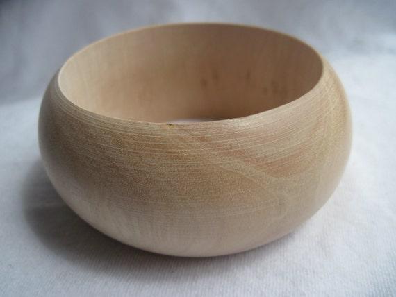 Six Large Chunky Unfinished Wood Bangles