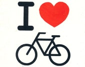 Screenprinted Patch - I Heart Bikes