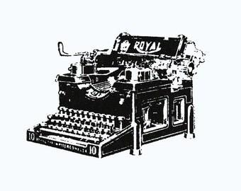 Typewriter Screenprinted Patch