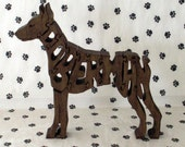 Doberman Pinscher with Cropped Ears Handmade Wood Dog Puzzle