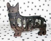 Pembroke Welsh Corgi Handmade Fretwork Jigsaw Puzzle Wood Dog