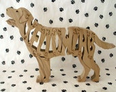 Yellow Lab Handmade Fretwork Jigsaw Puzzle Wood Dog