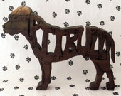 Pitbull with Natural Ears Handmade Fretwork wood Puzzle