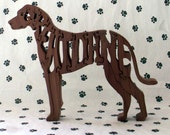 Great Dane with Natural Ears Handmade Fretwork Jigsaw Puzzle by dogWoodbyDave on Etsy