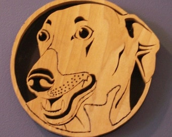 Greyhound Handmade Fretwork Wood Dog Art Breed Portrait bydogWoodbyDave on Etsy