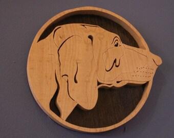 Pointer Handmade Fretwork Breed Portrait Wood Dog Art