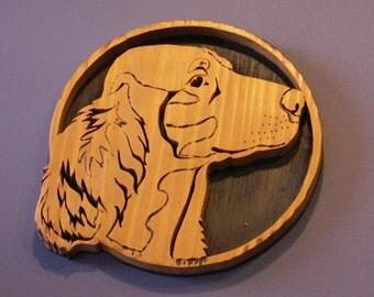 Springer Spaniel Handmade Fretwork Breed Portrait Wood Dog Art