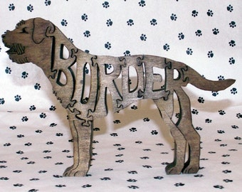 Border Terrier Handmade Fretwork Jigsaw Puzzle Wood Dog