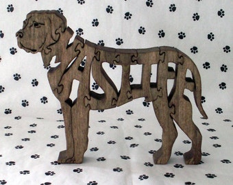 Mastiff Handmade Wood Fretwork Jigsaw Puzzle by dogWoodbyDave on Etsy