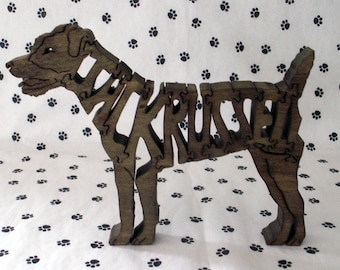 Jack Russell Terrier handmade fretwork puzzle