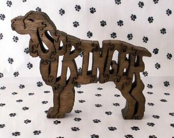Springer Spaniel Handmade Wood Fretwork Jigsaw Puzzle