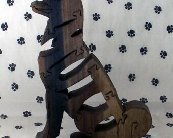 Mutt Handmade Fretwork Jigsaw Puzzle Wood Dog by dogWoodbyDave on Etsy