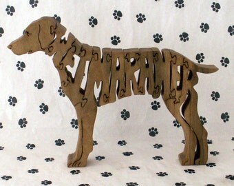 Weimaraner Hadnmade Wood Fretwork Jigsaw Puzzle by dogWood by Dave on Etsy