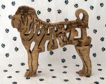 Shar-Pei Handmade Fretwork Jigsaw Puzzle
