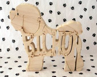 Bichon Frise Handmade Fretwork Jigsaw Puzzle Wood Dog by dogWoodbyDave on Etsy