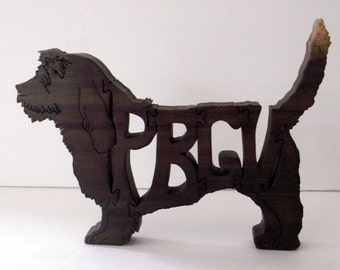PBGV Handmade Fretwork Jigsaw Puzzle Wood Dog