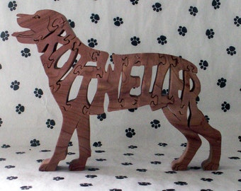 Rottweiler Handmade Fretwork Jigsaw Puzzle Wood Dog