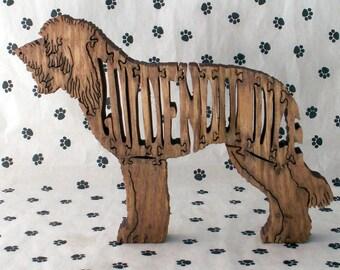 Goldendoodle Handmade Wood Fretwork Jigsaw Puzzle by dogWoodbyDave on Etsy