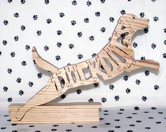 Dock Dog Handmade Fretwork Jigsaw Puzzle Wood