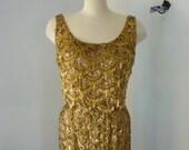 vintage dress- SHAKEN, NOT STIRRED 1960's Beaded Sequined Dress