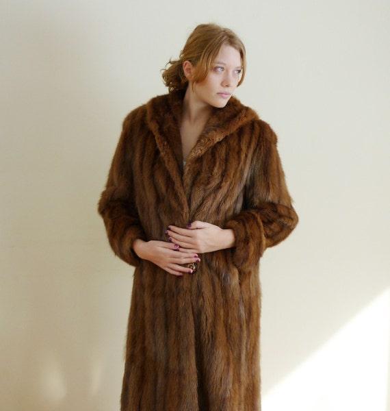 1960s fur coat  - MUSKRAT - vintage fur coat