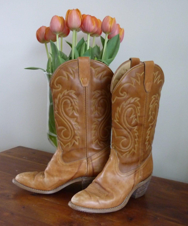 Vintage Rodeo Drive Ladies Cowboy Boots Distressed