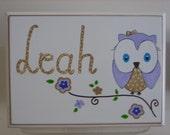 Personalized Musical Owl Jewelry Box.-Flower Girl , Birthday ,Communion , Christening, Newborn Gift