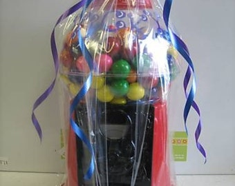 Personalized party favor large gumball machine Bar/bat mitzvahs, birthday parties, baby showers centerpiece- Gumballs included